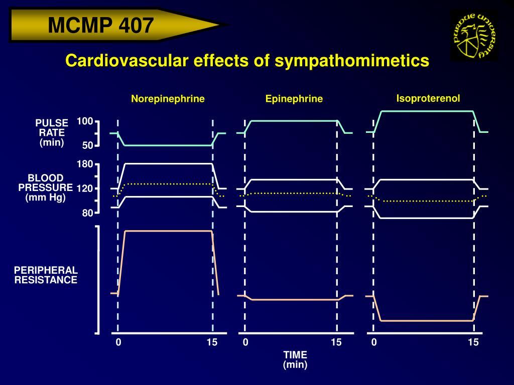 Cardiovascular effects of sympathomimetics
