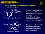 direct acting adrenergic receptor agonists a 1 receptor agonists