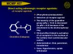 direct acting adrenergic receptor agonists a 2 receptor agonists