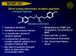 direct acting adrenergic receptor agonists b receptor agonists33