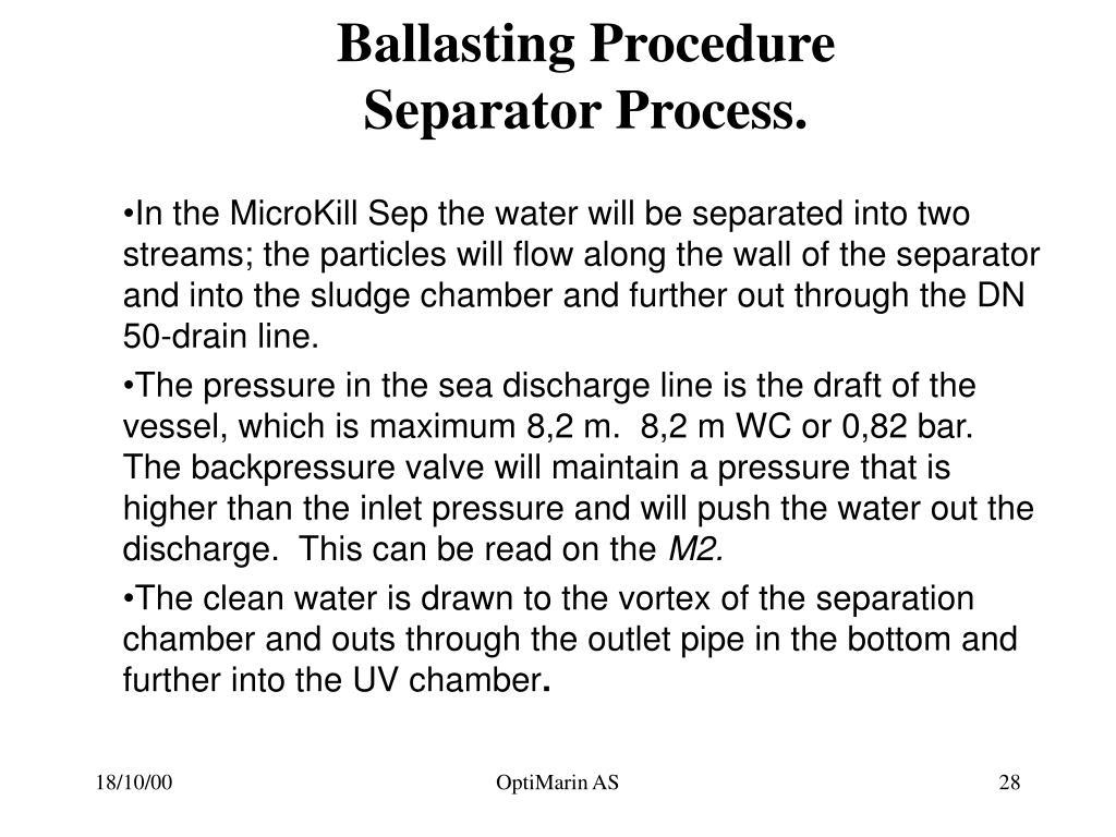 Ballasting Procedure