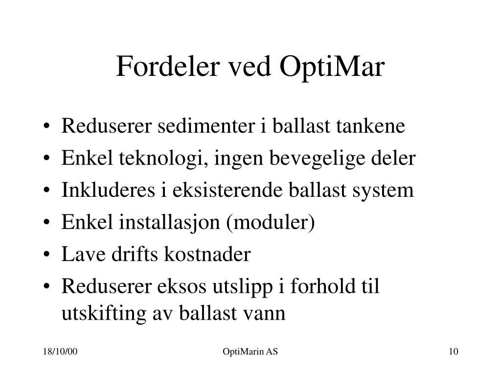 Fordeler ved OptiMar