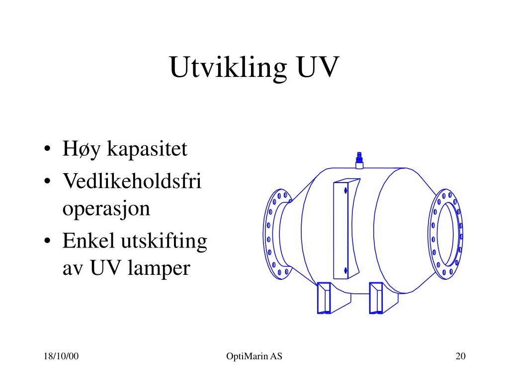 Utvikling UV