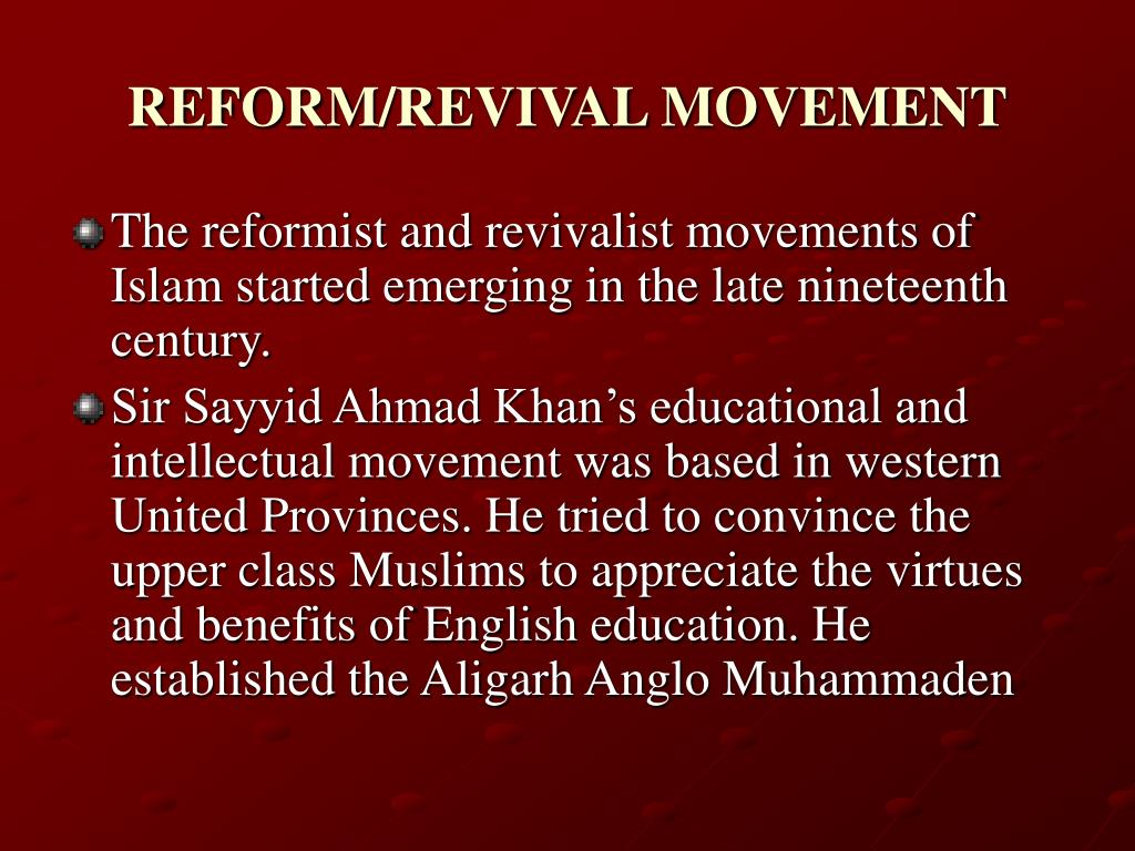 the revivalist movement Get this from a library a short history of the revivalist movement in islam [syed abul ʻala maudoodi.