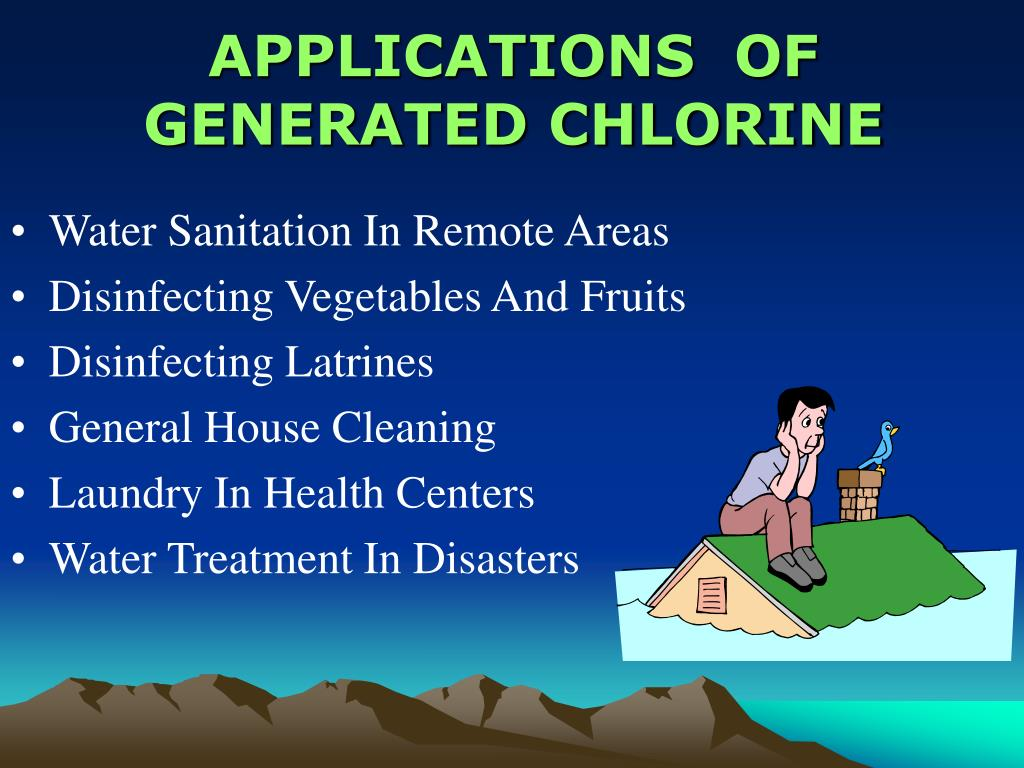 APPLICATIONS  OF GENERATED CHLORINE