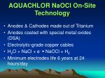 aquachlor naocl on site technology