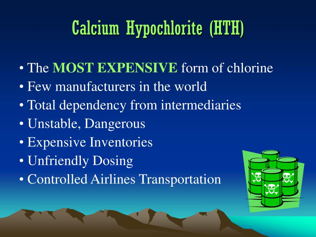 Calcium Hypochlorite (HTH)