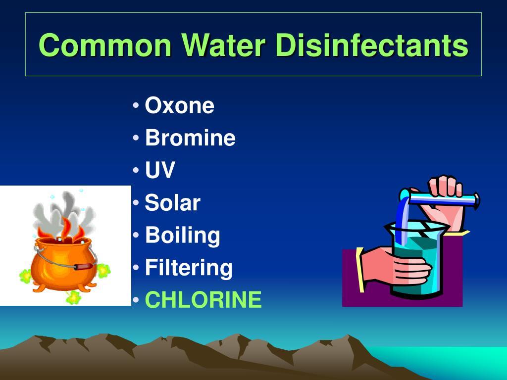 Common Water Disinfectants
