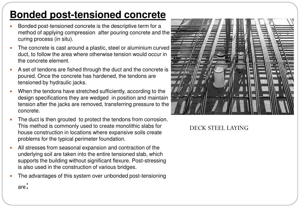 Bonded Post Tensioning : Ppt prestensioning post tensioning powerpoint