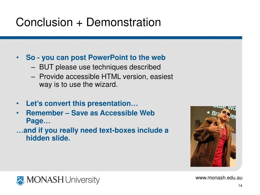 Conclusion + Demonstration