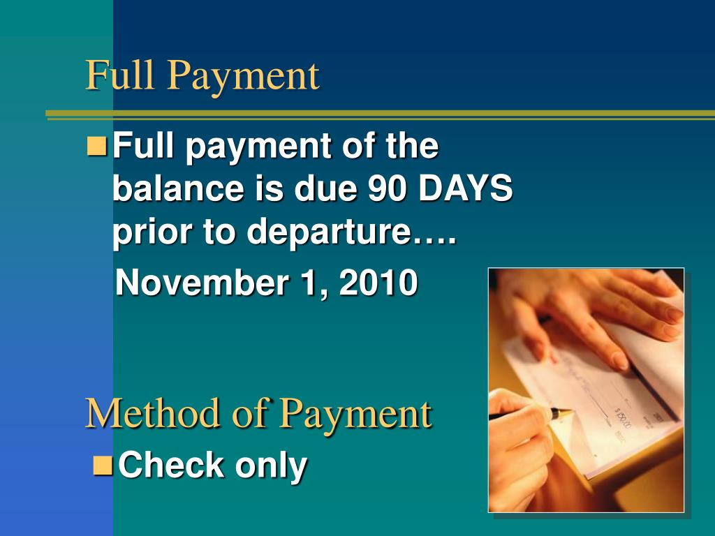 Full Payment