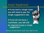 single supplement