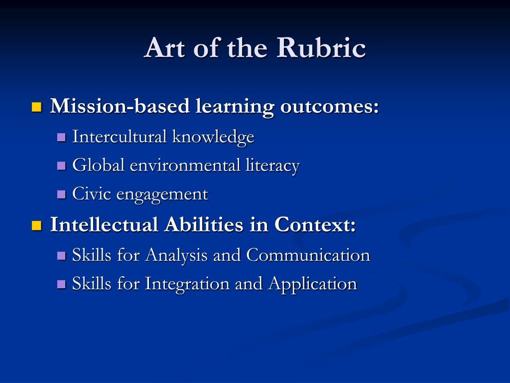 Art of the Rubric
