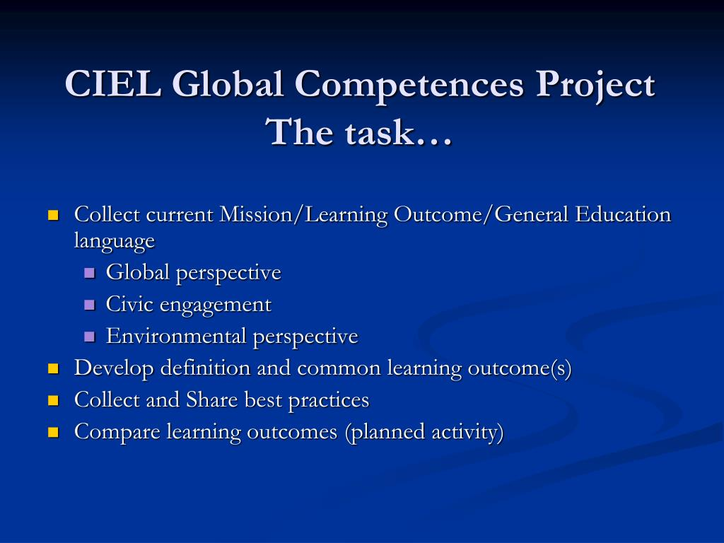 CIEL Global Competences Project
