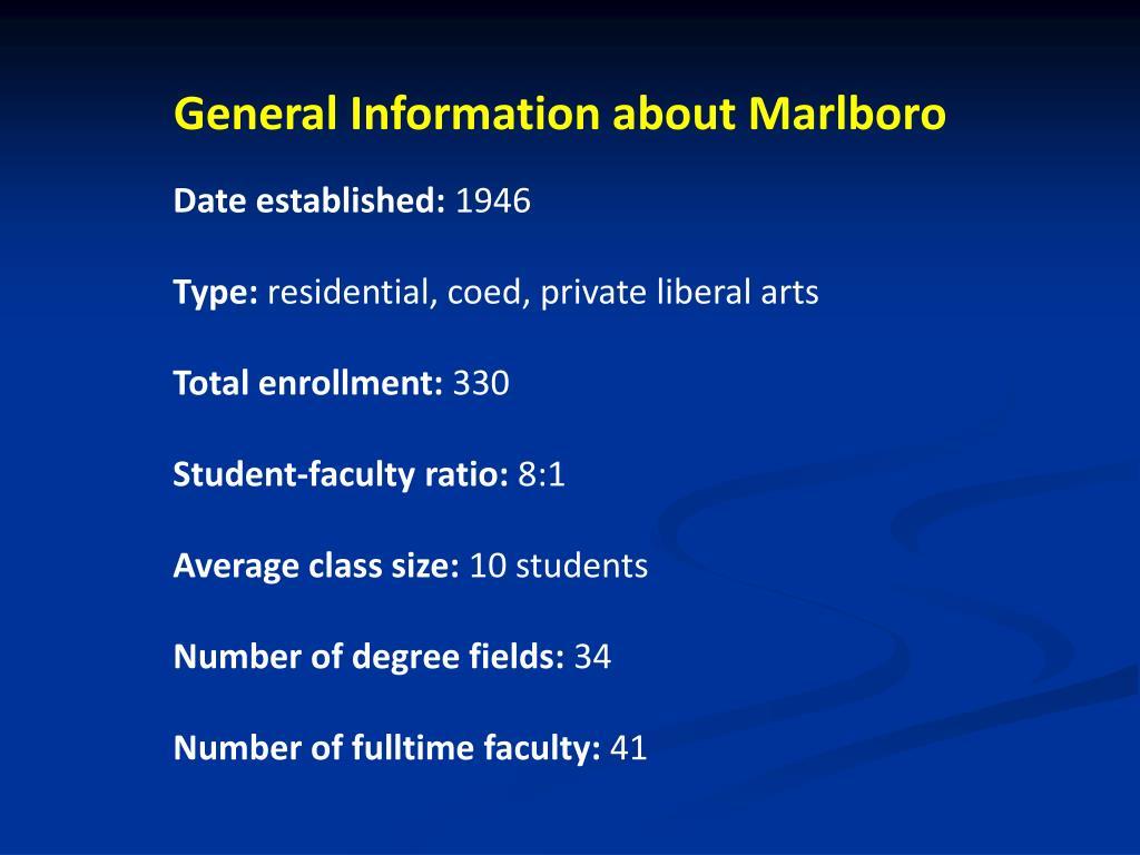 General Information about Marlboro