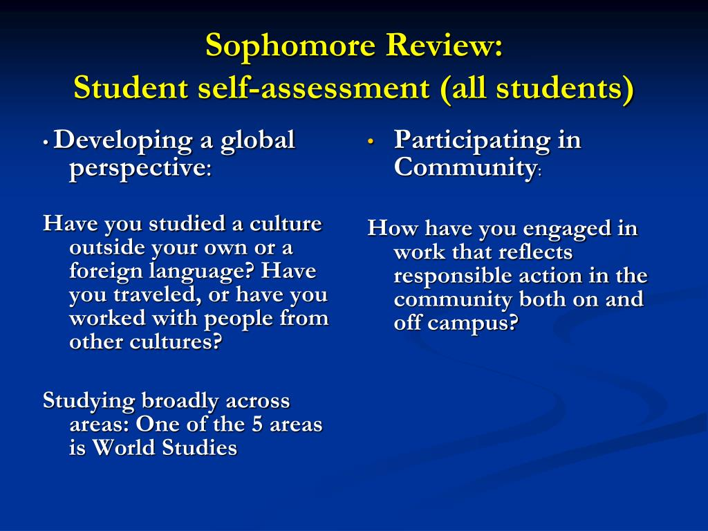 Sophomore Review: