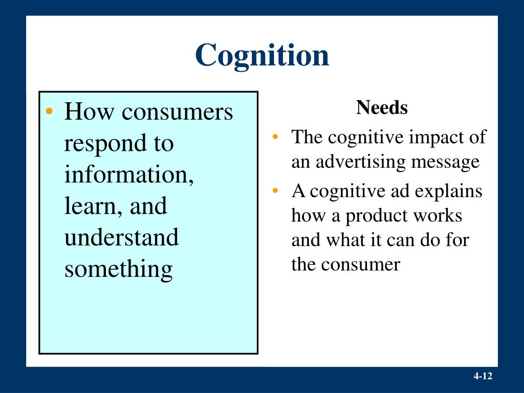 How consumers respond to information, learn, and understand something