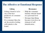 the affective or emotional response16