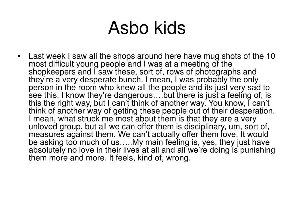 Asbo kids