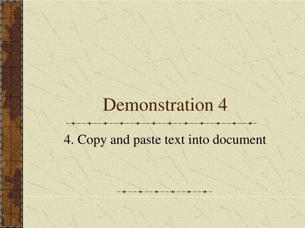 Demonstration 4