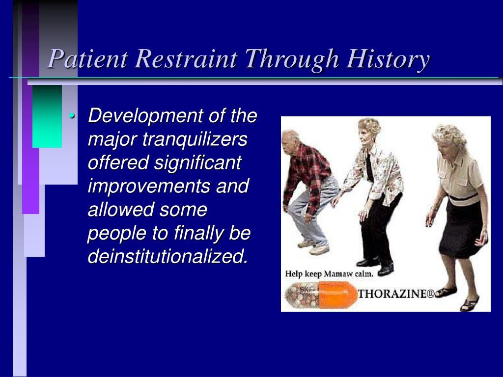 Patient Restraint Through History
