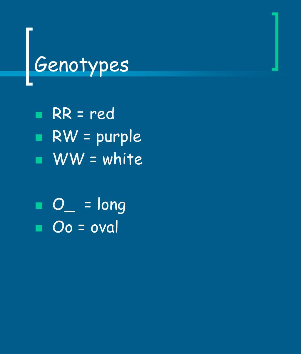 Genotypes