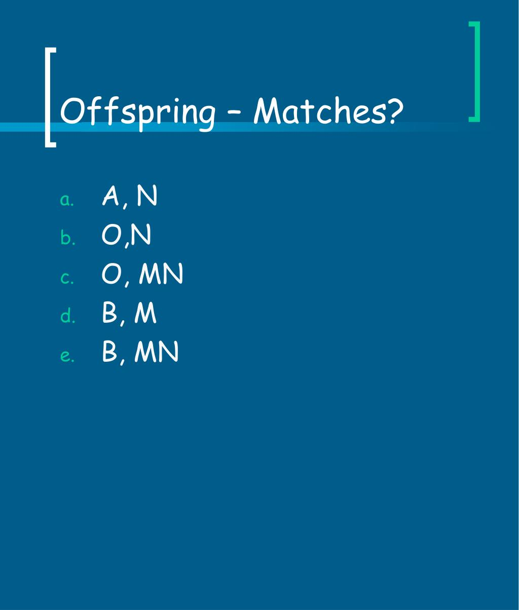 Offspring – Matches?