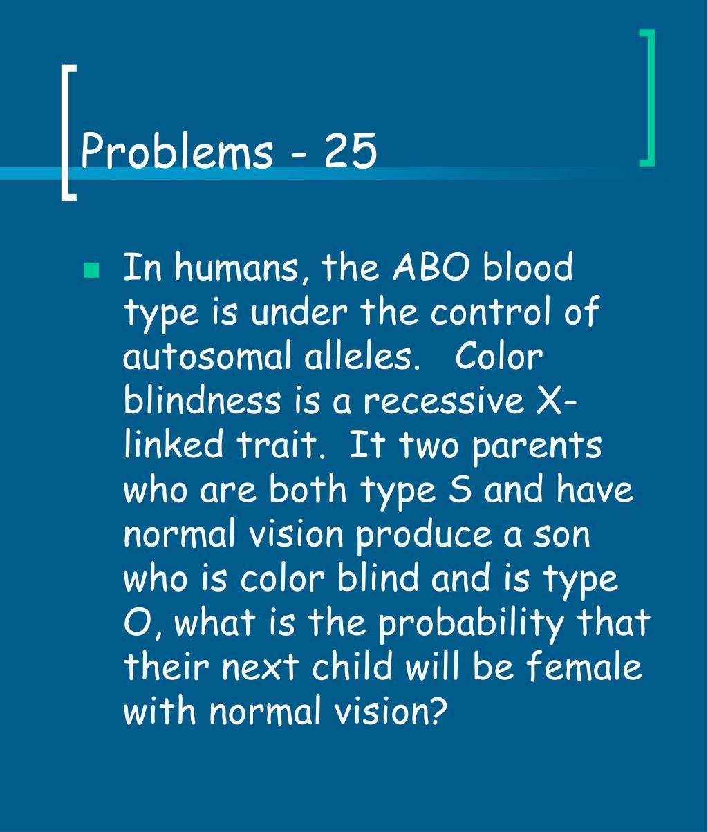 Problems - 25