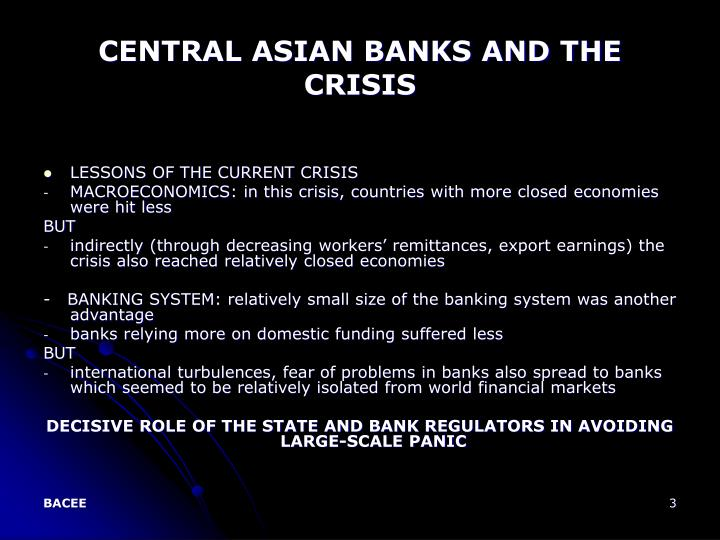 Central asian banks and the crisis3