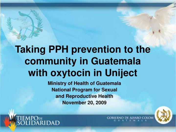 Taking PPH prevention to the community in Guatemala