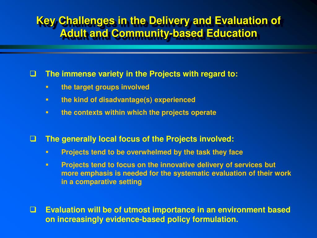 Key Challenges in the