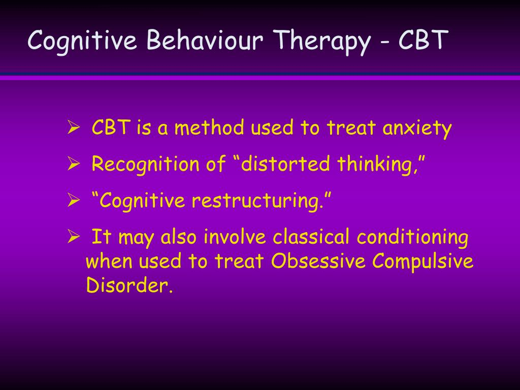 Cognitive Behaviour Therapy - CBT