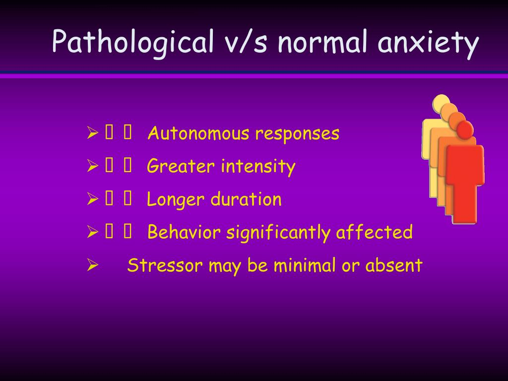 Pathological v/s normal anxiety