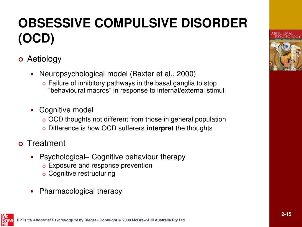 OBSESSIVE COMPULSIVE DISORDER (OCD)