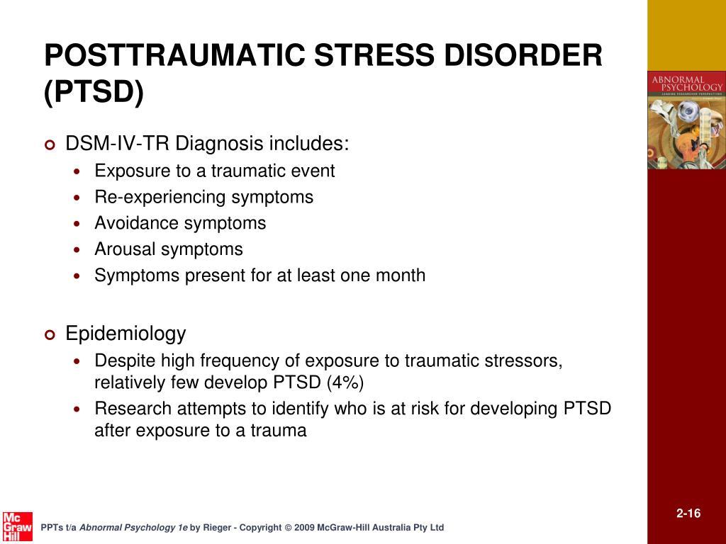 POSTTRAUMATIC STRESS DISORDER (PTSD)
