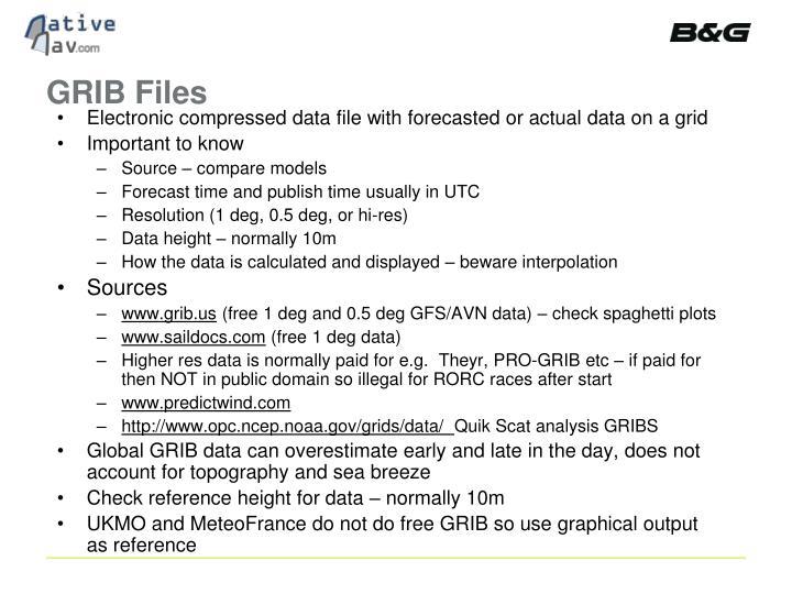 GRIB Files