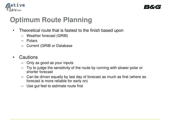 Optimum Route Planning