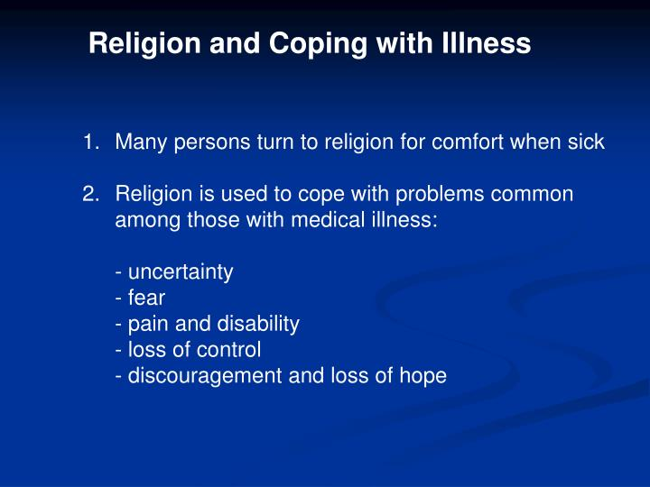 Religion and Coping with Illness