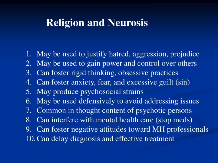 Religion and Neurosis