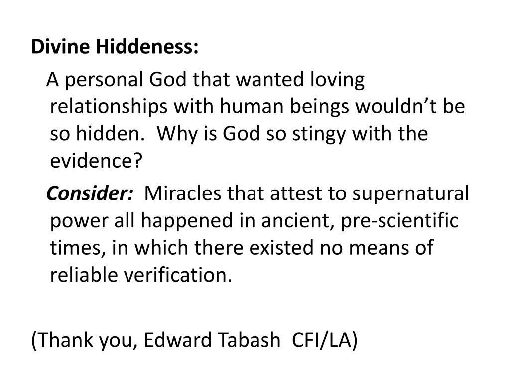 Divine Hiddeness: