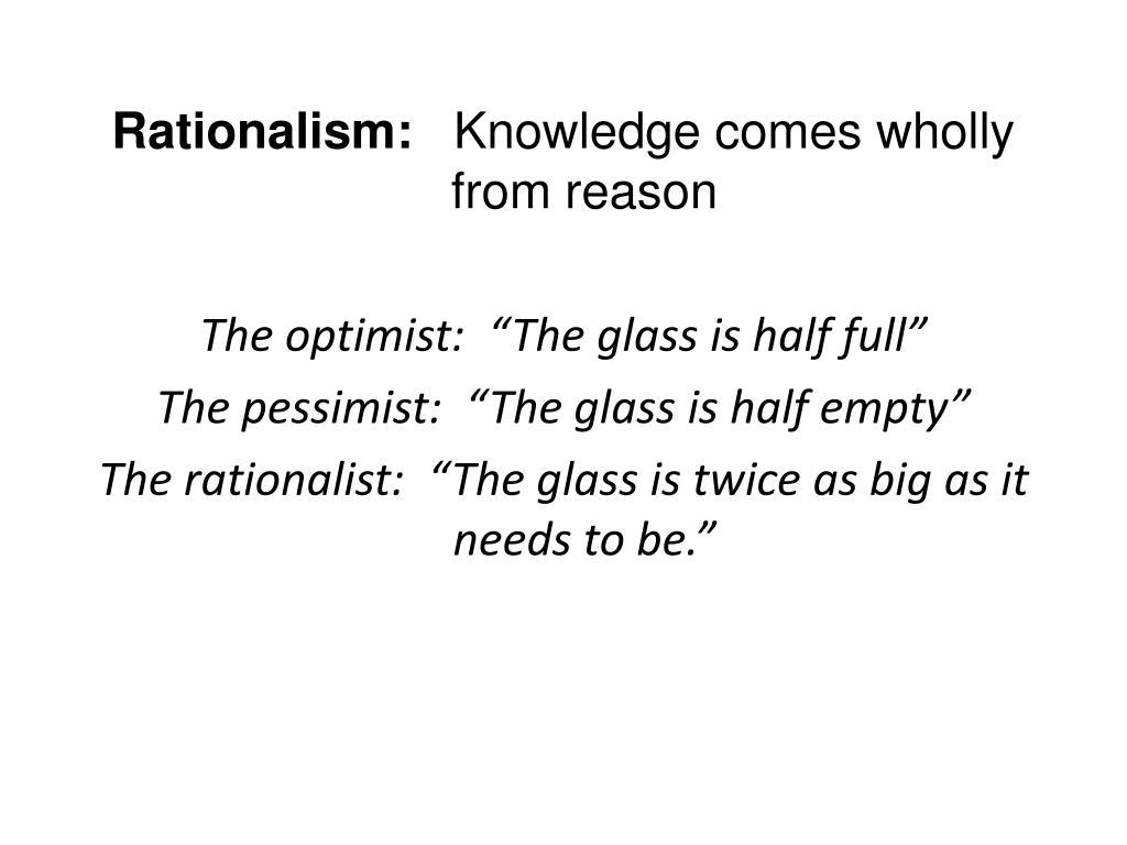 Rationalism: