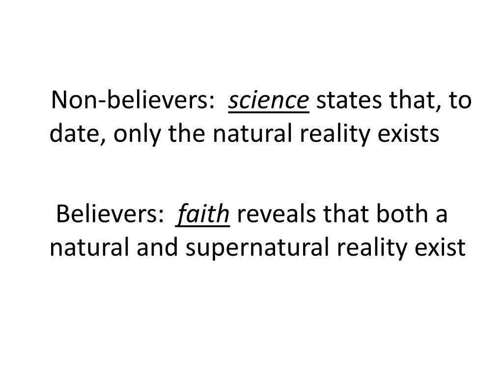 Non-believers: