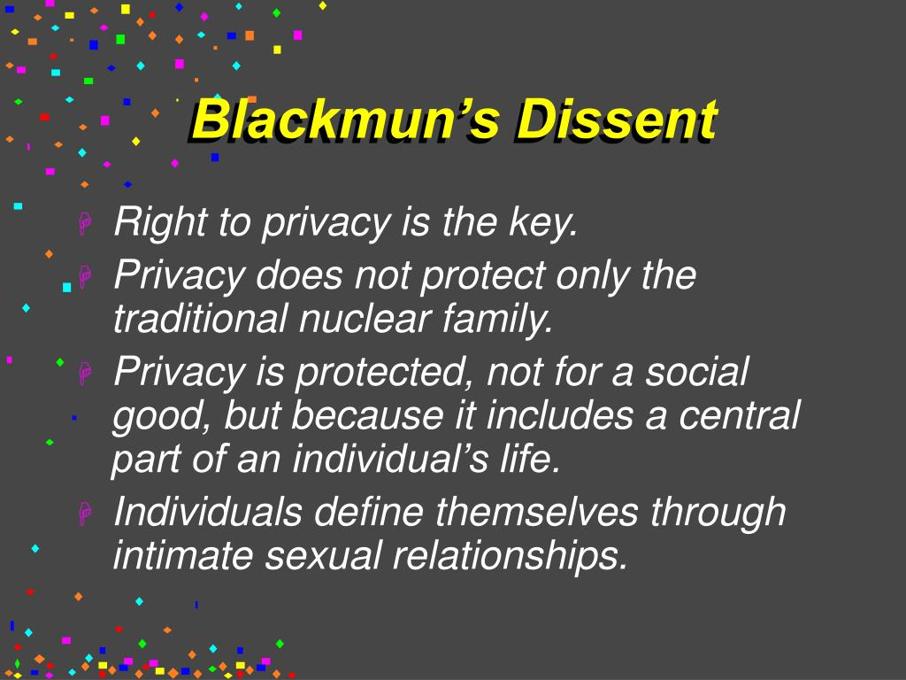 Blackmun's Dissent