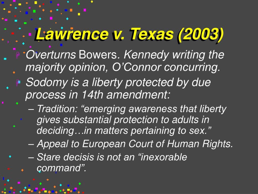 Lawrence v. Texas (2003)