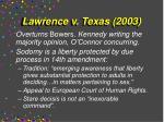 lawrence v texas 2003