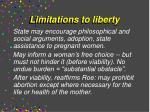 limitations to liberty