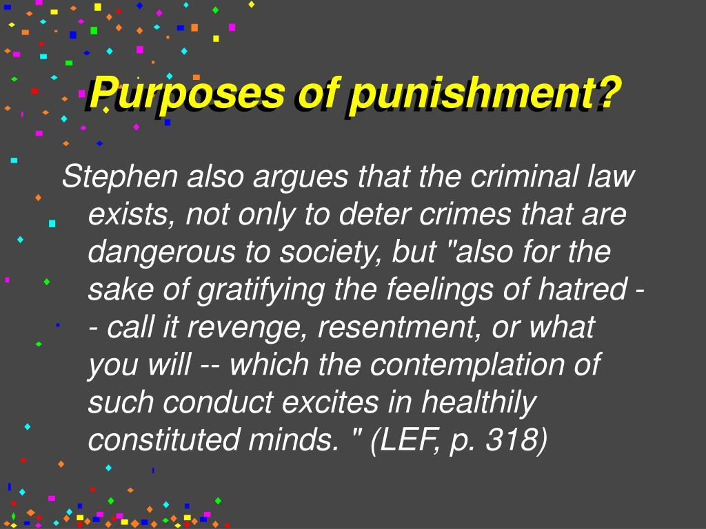 Purposes of punishment?