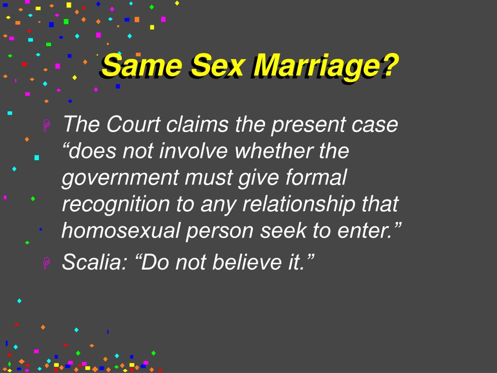 Same Sex Marriage?