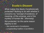 scalia s dissent