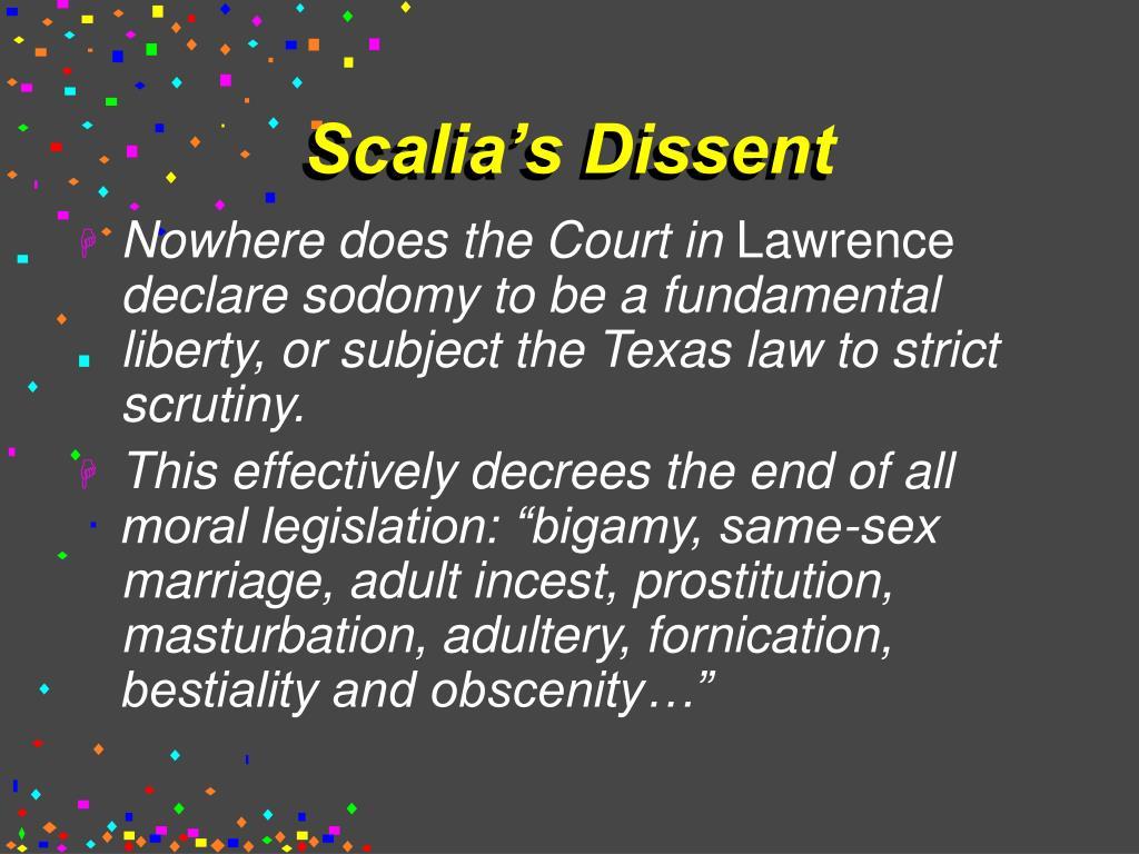 Scalia's Dissent